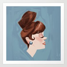 Ginger Cutie Art Print