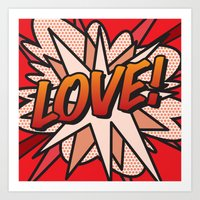 comic book Art Prints featuring Comic Book LOVE! by Thisisnotme