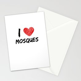I Love Mosques Stationery Cards
