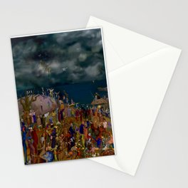 Lightning bolt procession Stationery Cards