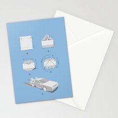 Origami DeLorean Stationery Cards