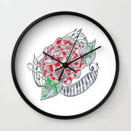 Music Blooms in the Soul Wall Clock