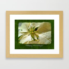 Pale Yellow Poinsettia 1 Happy Holidays P1F5 Framed Art Print