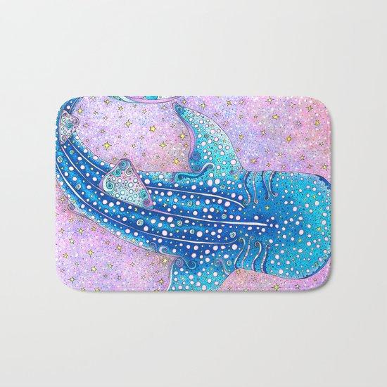 Whale Shark Galaxy Bath Mat
