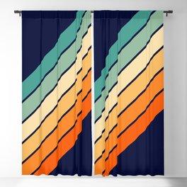Farida - 70s Vintage Style Retro Stripes Blackout Curtain