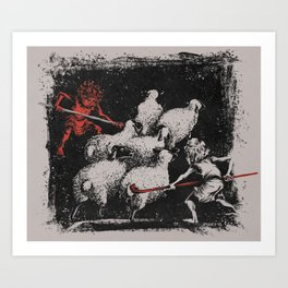 Romulus and Remus: Twin Shepherds  Art Print