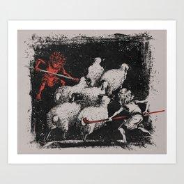 Romulus and Remus: Twin Shepherds  Art Print