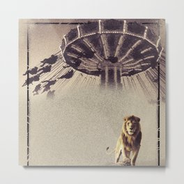 Luna Park Lion Metal Print