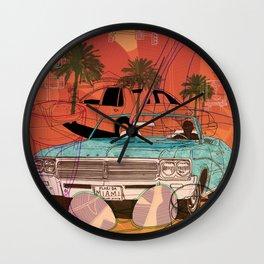 Miami Vibes Wall Clock