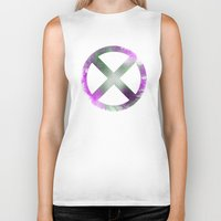 x men Biker Tanks featuring X-Men by Trey Crim