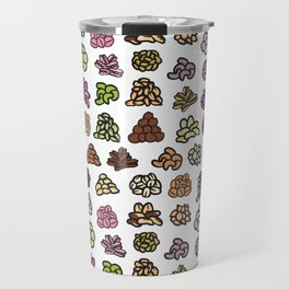 Healthy Nuts Pattern Art Travel Mug