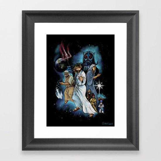 Jesus Christ Super StarWars Framed Art Print