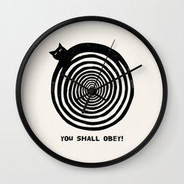 Hypnotic Black Cat Wall Clock