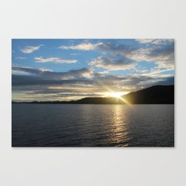 Peeking Sun Canvas Print