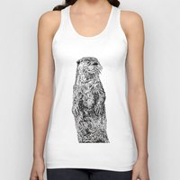 otter Tank Tops featuring Otter by Meredith Mackworth-Praed