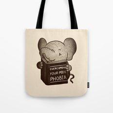 Elephant Overcoming Your Mice Phobia Tote Bag