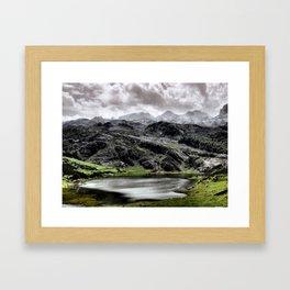 Lake Ercina in Asturias, Spain Framed Art Print