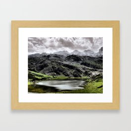 Lake Ercina in Asturias, Spain Framed Art Print