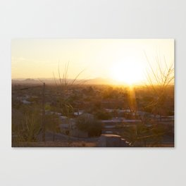 Suburban Desert Sunrise Canvas Print