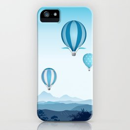 Hot air balloons - blue mountains iPhone Case
