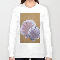 shells Long Sleeve T-shirts featuring Shells by seekmynebula