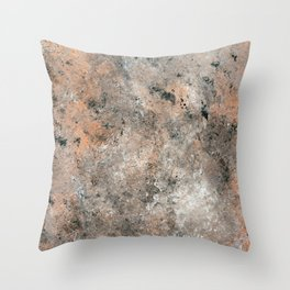 Black and Bronze Abstract Throw Pillow