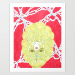 Meditative Mama Series~ White Widow~ Art Print
