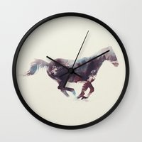 horse Wall Clocks featuring Horse by Andreas Lie