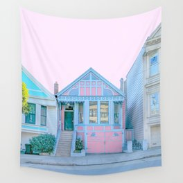 San Francisco Painted Lady Victorian House Wall Tapestry