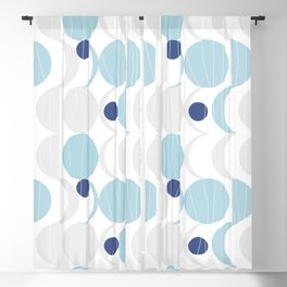 Blue Moon #society6 #decor Blackout Curtain