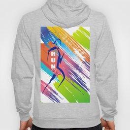 Multicolor Woman runner Hoody