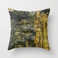 moss Throw Pillows featuring Moss by Jillian VanZytveld