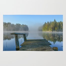 Morning on the dock Rug