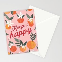 Keep it Happy with oranges Stationery Cards