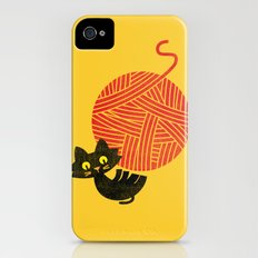 Fitz - Happiness (cat and yarn) Slim Case iPhone (4, 4s)