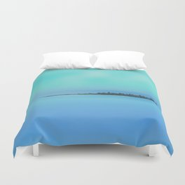 Island in the Sky Duvet Cover