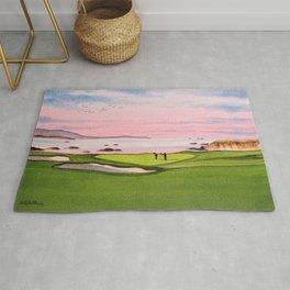 Pebble Beach Golf Course 8th Hole Rug