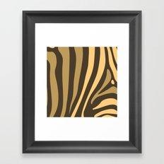 Brown Zebra Stripes Framed Art Print