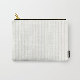 Vertical Lines (Beige/White) Carry-All Pouch