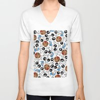 ghibli V-neck T-shirts featuring Ghibli Pattern by pkarnold + The Cult Print Shop
