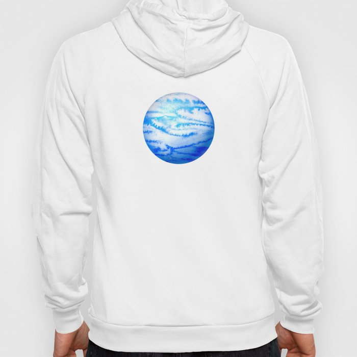 Illustration of watercolor round planet Hoody