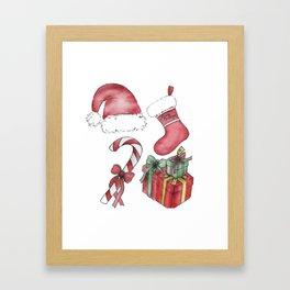 Christmas Items Framed Art Print