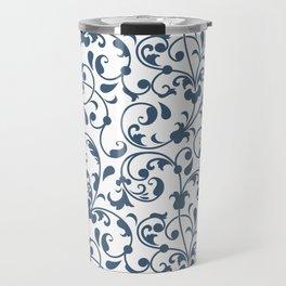 Modern Flowers Pattern Art Travel Mug