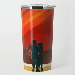 THE MOONS OF MARS - Phobos & Deimos | Space | X | Retro | Vintage | Futurism | Sci-Fi | Two Travel Mug