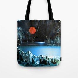 3d Art Digital Art Cave Lake Tote Bag