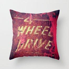 4 Wheel Drive Throw Pillow
