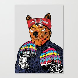 Shiba - The Hustler Canvas Print