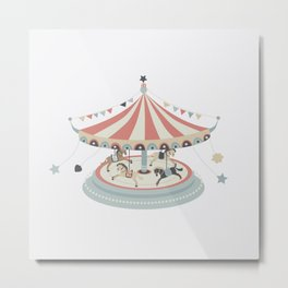 Toy Collection #1 Carrousel Metal Print