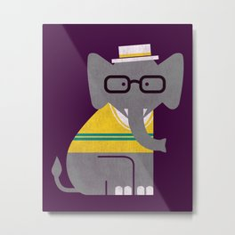 Rodney the preppy elephant Metal Print