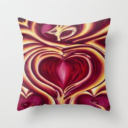 4 of hearts Throw Pillow